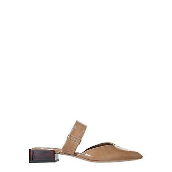 Ganni S1289185 Dames's Beige Leather Slippers