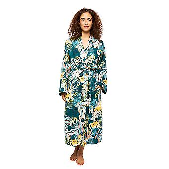 Cyberjammies Valerie 4535 Femmes-apos;emerald Mix Flamingo Print Long Robe