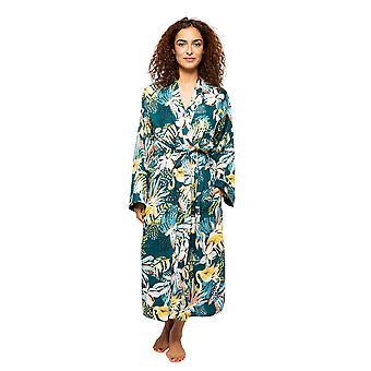 Cyberjammies Valerie 4535 Women's Emerald Mix Flamingo Print Long Robe