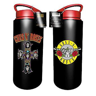 Guns N Roses Water Bottle Drink Classic Band Logo new Official Aluminium
