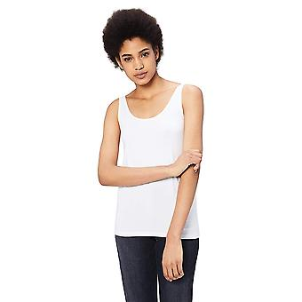 Daily Ritual Women's Jersey Tank Top, White, X-Small, White, Size X-Small