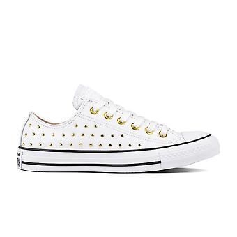 Converse Ctas Ox 561684C White/Gold Women'S Shoes Boots