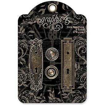 Graphique 45 Plaques de porte en métal & Boutons