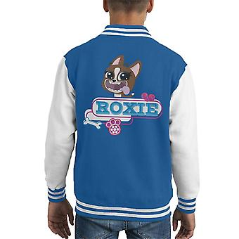 Littlest Pet Shop Roxie Tongue Hanging Out Kid's Varsity Jacket