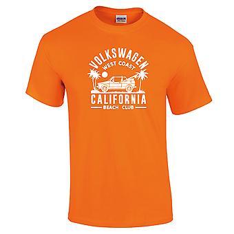 Volkswagen West Coast California Black Text Men's Neon T-Shirt