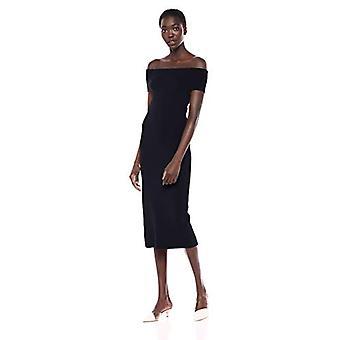 Merkki - Lark & Ro Women's Off the Shoulder Sheath Sweater Dress, Navy, Medium