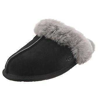 UGG Scuffette 2 أحذية النعال النسائية باللون الرمادي الأسود