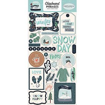 Carta Bella Sneeuw Veel Plezier 6x13 Inch Spaanplaat Zinnen