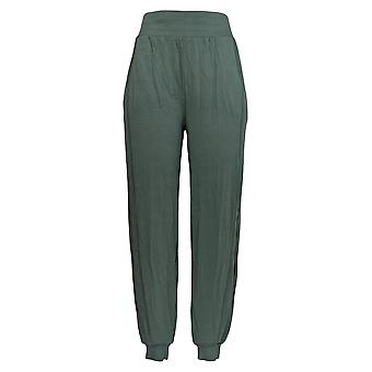 AnyBody Women's Pants Cozy Knit Ribbed Jogger Green A365608