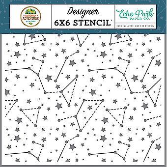 Echo Park Himmel Sternbilder 6 x 6 Zoll Schablone