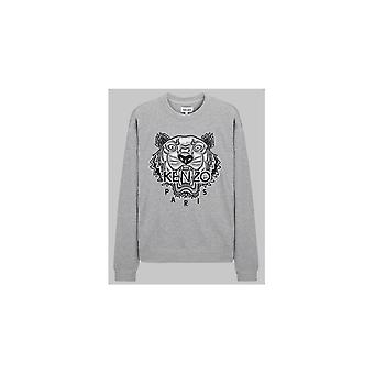 Kenzo Varsity Tiger Embroided Logo Grå Sweatshirt