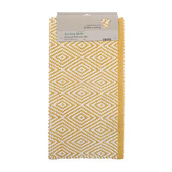 Country Club Bath Mat, Diamond Ochre