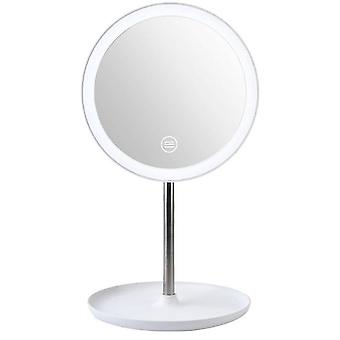 Makeup Backlit Mirror Light With Natural White Led Daylight Vanity Mirror Detachable Storage Base 3 Modes