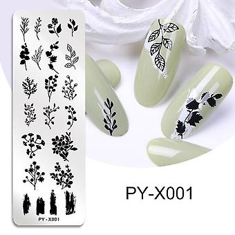 Flower Geometry Nail Stamping Plates Image Stencil For Nails Polish Printing Templates