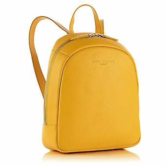 Poppy Mini Leather Backpack in Aztec Yellow Richmond Chrome Free Leather