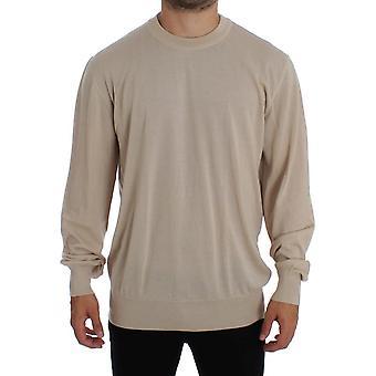 Dolce & Gabbana Beige Cashmere Crew-Neck Sweater SIG16239-1
