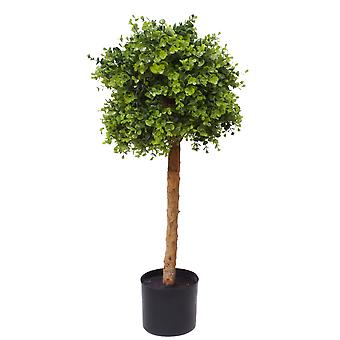 90cm Artificial Natural look Wide Topiary Ball Tree UV protegido