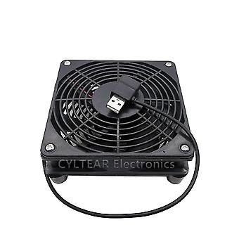 Usb Router Cooling Fan For Pc Cooler Tv Box Wireless Quiet Dc 5v Usb Power Fan 12cm W/screws Protective Net