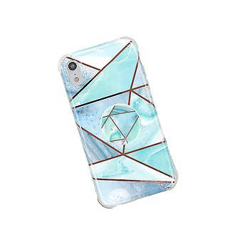 iPhone XR skal med hållare Blå