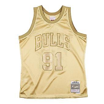 Mitchell & Ness NBA Midas Swingman Jersey Bulls Dennis Rodman SMJYBW19079CBUMTGD97DRD basquete todo o ano masculino t-shirt