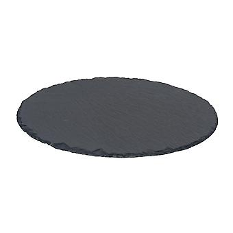 Natural Slate Round Food / Drinks Serving Platter