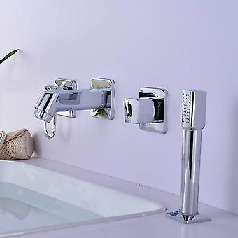 4kpl pesuallassarja, kansi/seinä Asennettu käsikäyttöinen hana suihkulla
