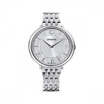 Swarovski Crystalline Chic Metal Silver Tone Stainless Steel White Watch 5544583