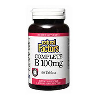 Natural Factors Complete Vitamin B Time Release, 100 mg, 90 Tabs