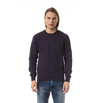 Uominitaliani Viola Extrafine Wool Long Sleeve Sweater