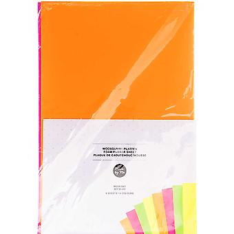 10 Assorted Sheets of A4 Neon Craft Foam - 2mm Thick