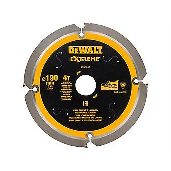 DEWALT Extreme PCD Fibre Cement Saw Blade 190 x 30mm x 4T DEWDT1472QZ