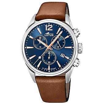 Lotus Men's Brown Leather Strap | Blue Chronograph Dial L18691/2 Watch