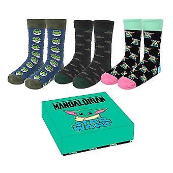 Women's The Mandalorian The Child Socks Gift Set (3 par)