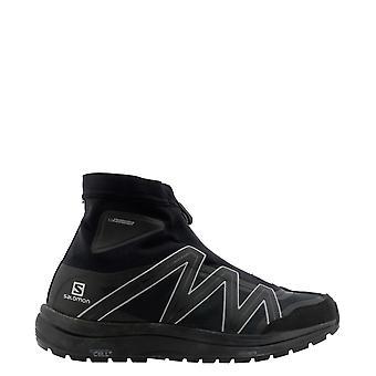 E Wander 5740278538 black Men's Black Fabric Hi Top Sneakers