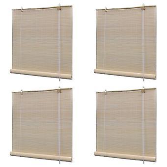 Blinds 4 pcs. Natural bamboo 120 x 160 cm