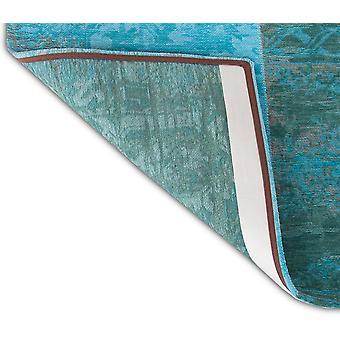 2,5' x 5' Azur Lyseblå Mørkeblå og Red Patchwork Design Area Tæppe