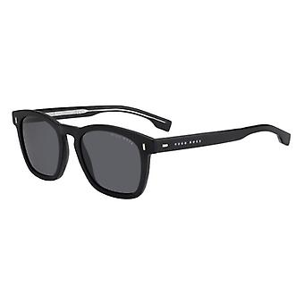 Hugo Boss 0926/S 003/IR Matte Black/Grey-Blue Sunglasses