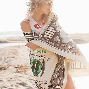 Toalla de playa De dinero en efectivo