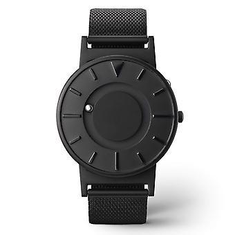 Eone BR-BLK Bradley Mesh Black Titanium & Stainless Steel Watch
