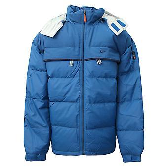 Nike Swoosh Boys Zip Up Funnel Neck Coat Padded Jacket Blue 164843 200 Y31A