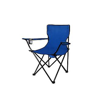 2Pcs Blue Folding Camping Arm Foldable Portable Outdoor Fishing Chairs