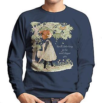 Holly Hobbie Natures Little Things Light Text Men's Sweatshirt