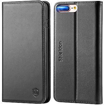 SHIELDON iPhone 8 Plus Case, iPhone 7 Plus Case, iPhone 8 Plus Genuine Leather Case