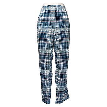 Carole Hochman Women's Silky Velour Blue A381879 Pajama Pants