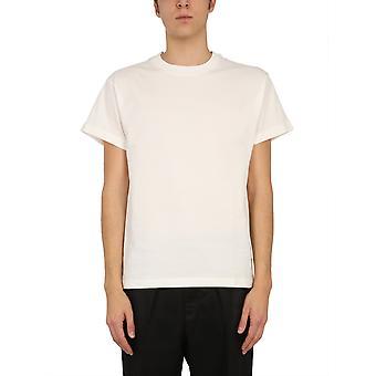Jil Sander Jpus706530ms248808100 Men's White Cotton T-shirt