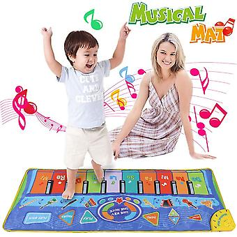 Anpro 51*18.9 inch (130*48cm) baby play mat,piano mat with oversize piano keys and many function
