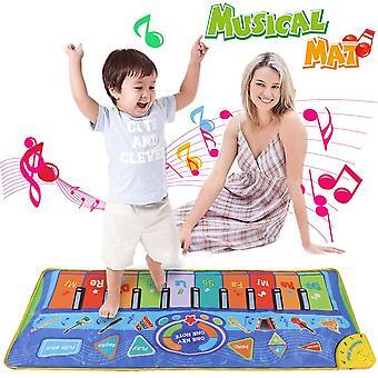 Anpro 51 * 18,9 palcový Ôºà130 * 48cmÔºâ detská podložka, klavírna rohož s nadsize klavírnymi klávesmi a mnoho funkcií
