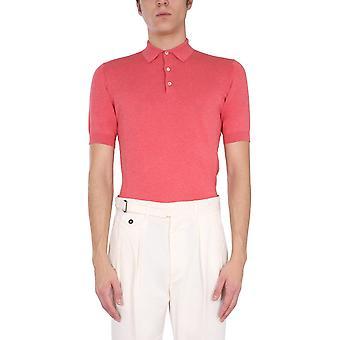 Lardini Ellpmc52604 Men's Red Cotton Polo Shirt