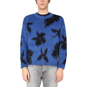 Saint Laurent 645817yaxj24411 Männer's Blauer Wollpullover