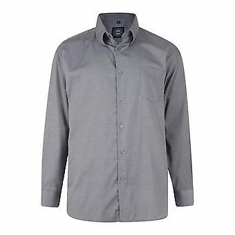 KAM Jeanswear Long Sleeve Retro Pattern Shirt